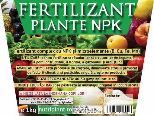Eticheta Fertilizant plante NPK