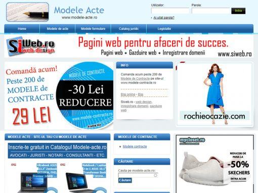 Modele acte